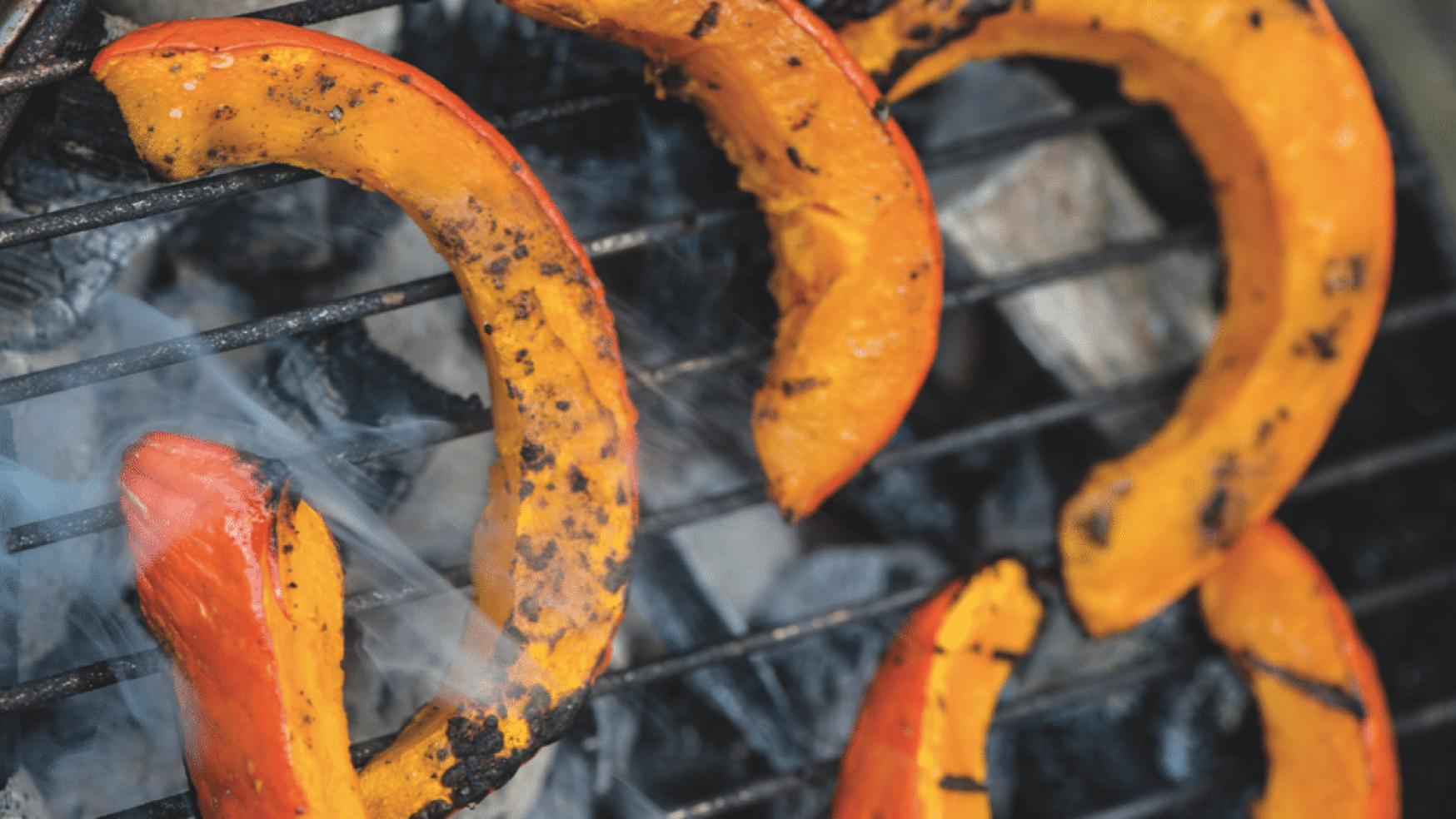 Winter BBQ recept: Gegrilde pompoen